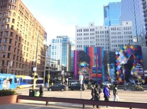 mural of Bob Dylan in Minneapolis