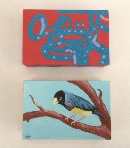art-o-mat-mpls-block-wood-paintings-the-trumpeter-top-by-pollux-www-worldofpollux-com-gouldian-finch-jennies-original-art-jmassey59gmail-com