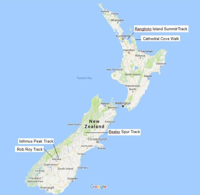 map-of-5-nz-hikes