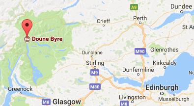 Doune bothy, Scotland, GoogleMaps