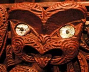 waka taua carving at Te Papa Tongarewa