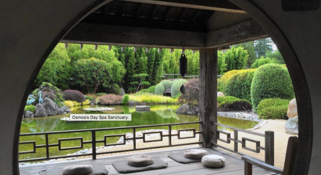 Japanese garden at Osmosis Day Spa Sanctuary