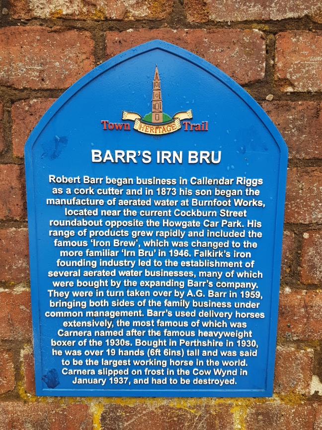 Barr's Irn Bru on Falkirk Town Heritage Trail