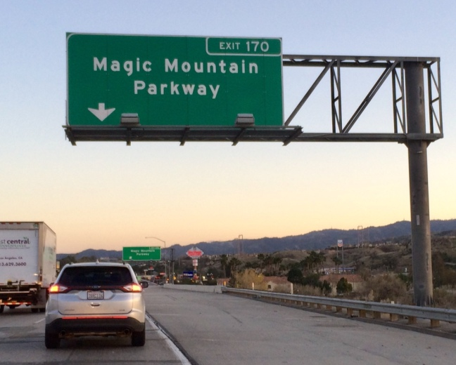 Magic Mountain Parkway highway sign