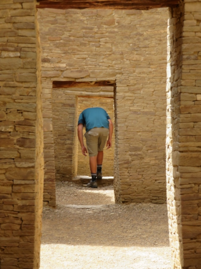 Chaco doorways at Pueblo Bonito