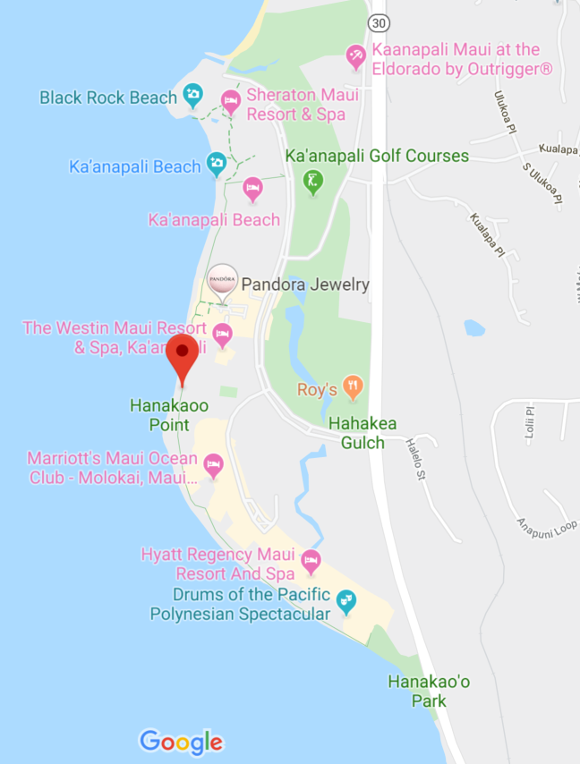 Map of Ka'anapali Walkway